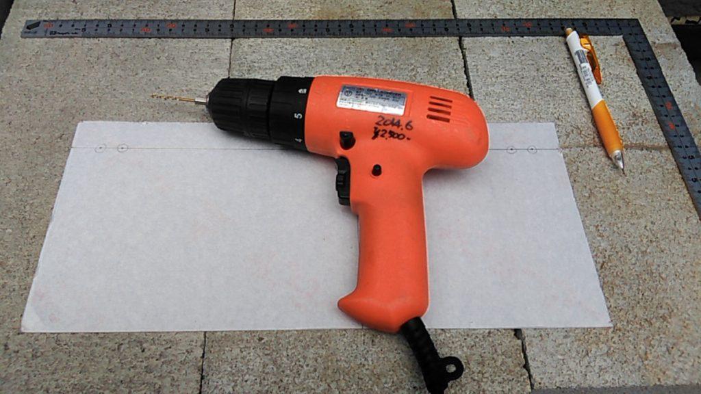 DIYで使用する電動ドリル