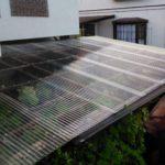 台風で壊れた自転車置場の屋根の波板をDIYで張り替えました